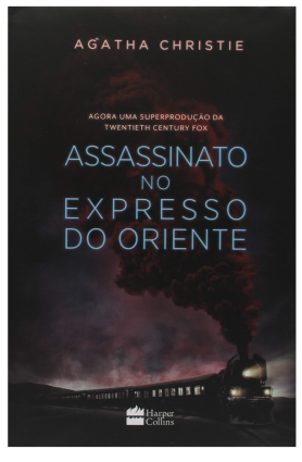"Livro ""Assassinato no Expresso do Oriente, Agatha Christie"