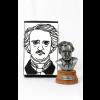"""Busto decorativo metálico """"Grandes escritores"""" Edgar Allan Poe"""